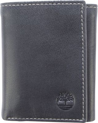 Timberland Wallets Cloudy Trifold Wallet Black - Timberland Wallets Men's Wallets