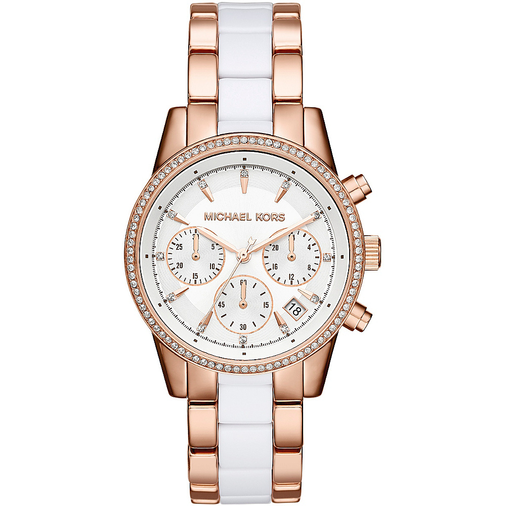 Michael Kors Watches Ritz Acetate Chrono Watch Rose Gold Michael Kors Watches Watches
