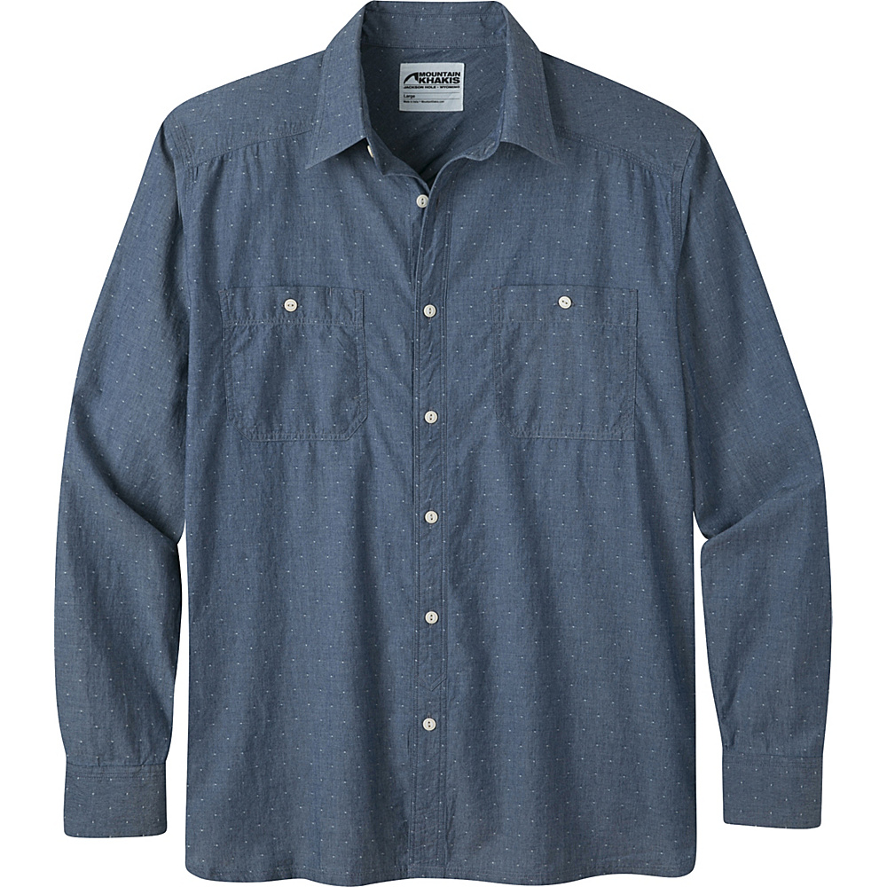 Mountain Khakis Ace Indigo Long Sleeve Shirt L - Polkadobby - Mountain Khakis Mens Apparel - Apparel & Footwear, Men's Apparel