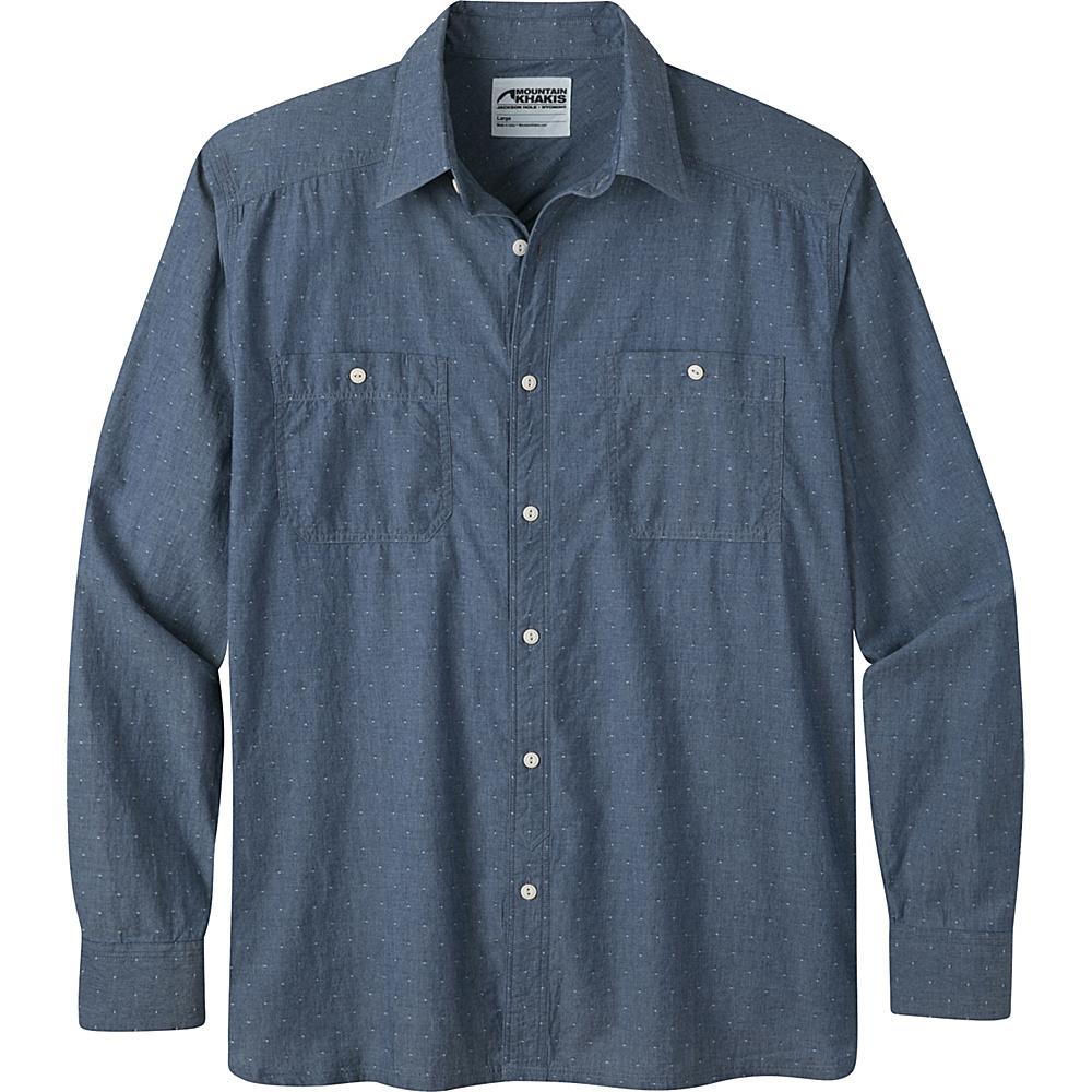 Mountain Khakis Ace Indigo Long Sleeve Shirt XL - Polkadobby - Mountain Khakis Mens Apparel - Apparel & Footwear, Men's Apparel