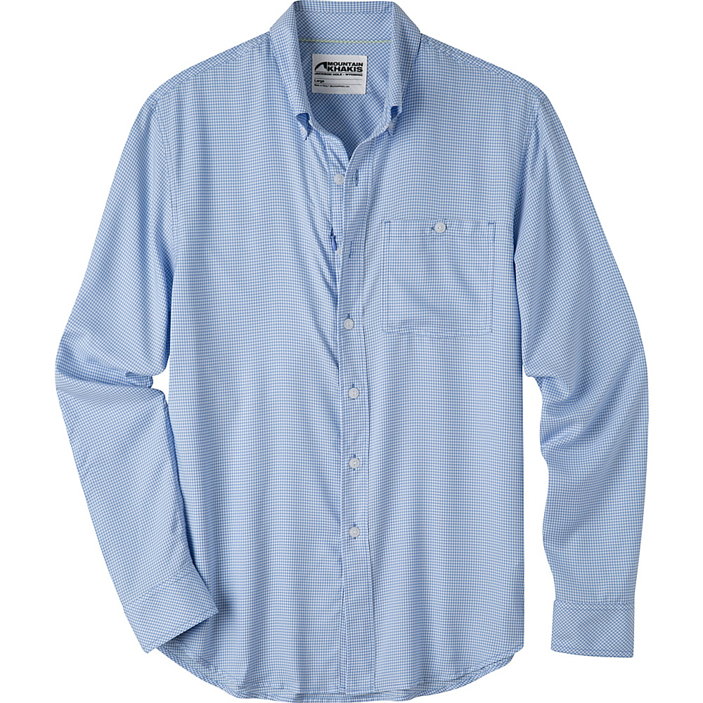Mountain Khakis Passport EC Long Sleeve Shirt L - Larkspur - Mountain Khakis Mens Apparel - Apparel & Footwear, Men's Apparel