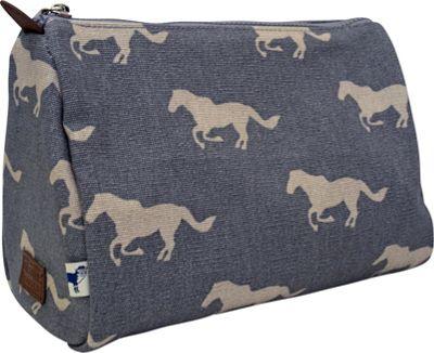 Sloane Ranger Cosmetic Pouch Grey Horse - Sloane Ranger Women's SLG Other