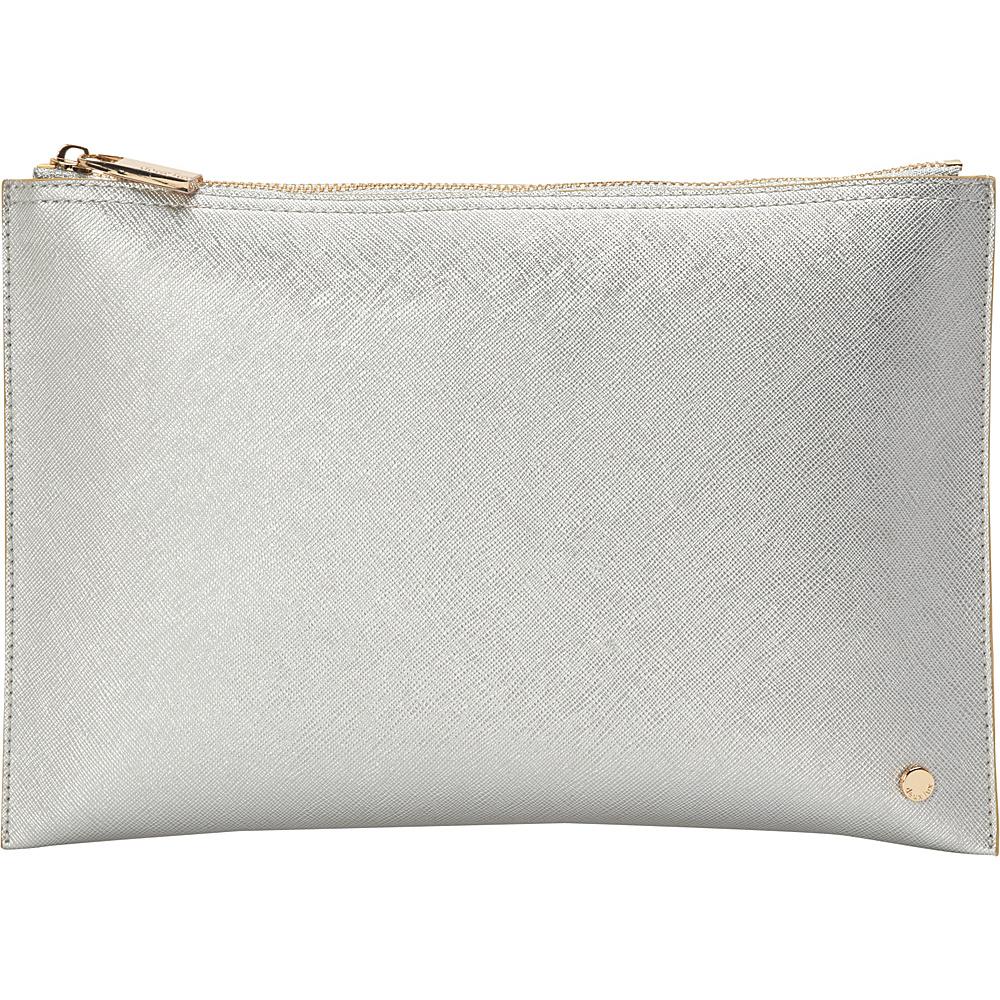 deux lux Azure Pouch Silver deux lux Manmade Handbags