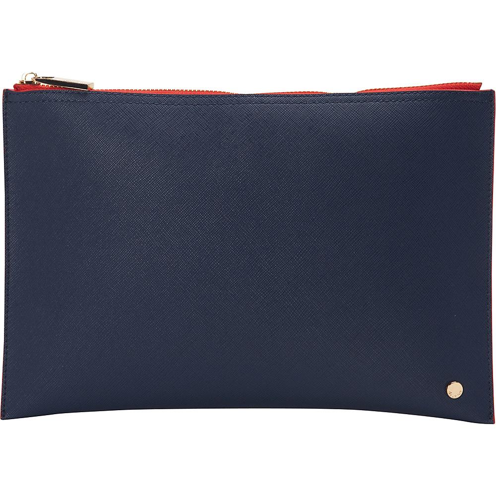 deux lux Azure Pouch Navy deux lux Manmade Handbags
