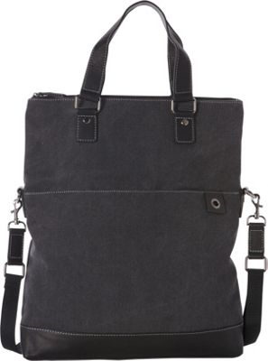 Goodhope Bags The Noble Fold-Over Tote Dark Grey - Goodhope Bags Fabric Handbags