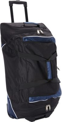 Goodhope Bags Rolling Duffel with Cooler Black - Goodhope Bags Gym Duffels
