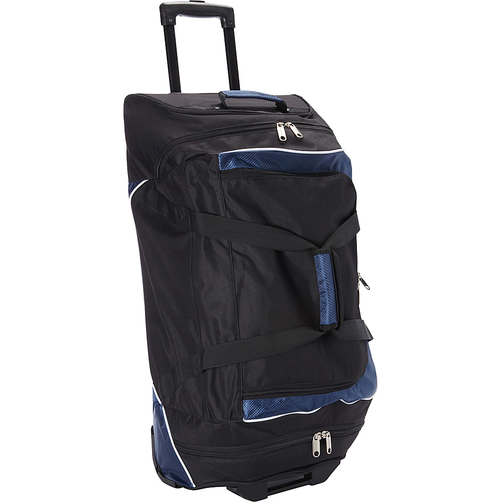 Goodhope Bags Rolling Duffel with Cooler Black Goodhope Bags Gym Duffels
