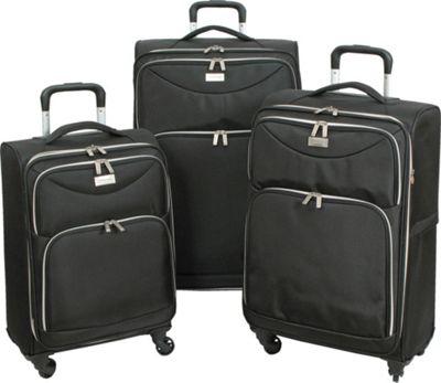 Geoffrey Beene Luggage Ultra Lightweight Midnight Collection Black - Geoffrey Beene Luggage Luggage Sets