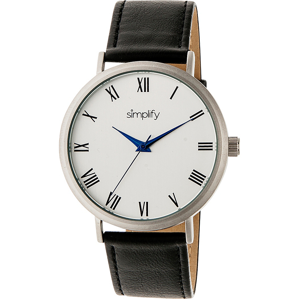 Simplify 2900 Unisex Watch Black Silver Simplify Watches