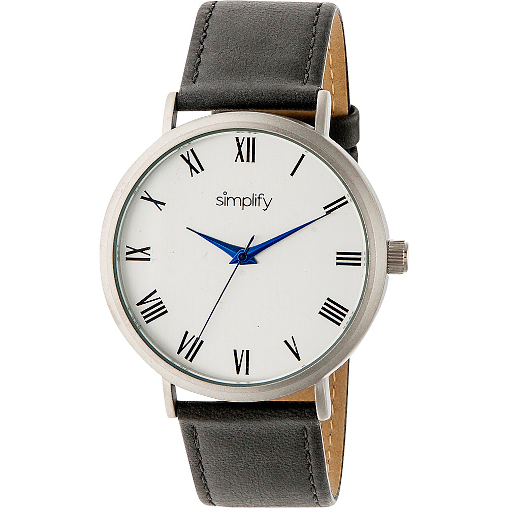 Simplify 2900 Unisex Watch Grey Silver Simplify Watches