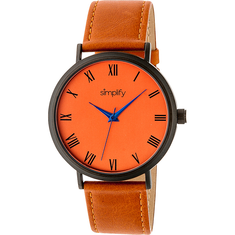 Simplify 2900 Unisex Watch Orange Orange Simplify Watches