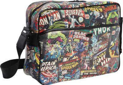 Marvel Marvel Comic Black Messenger Bag Black - Marvel Messenger Bags