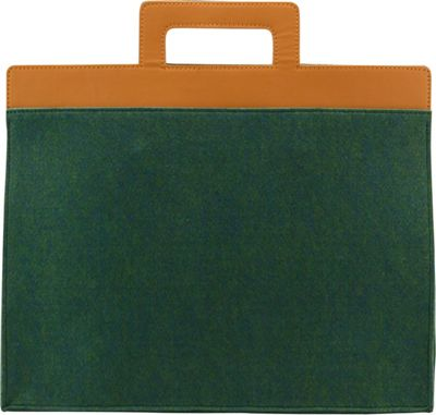 Mad Rabbit Kicking Tiger Henry Briefcase Midnight Green - Mad Rabbit Kicking Tiger Non-Wheeled Business Cases