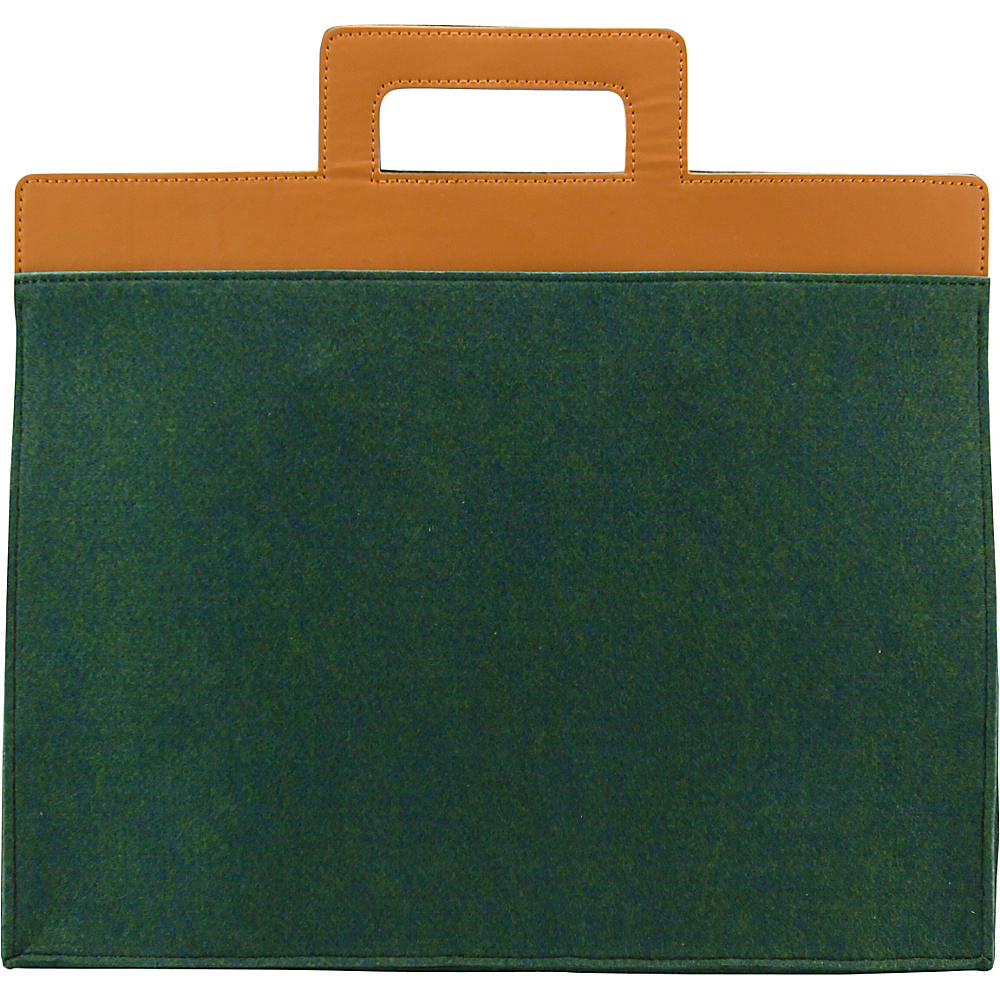 Mad Rabbit Kicking Tiger Henry Briefcase Midnight Green Mad Rabbit Kicking Tiger Non Wheeled Business Cases