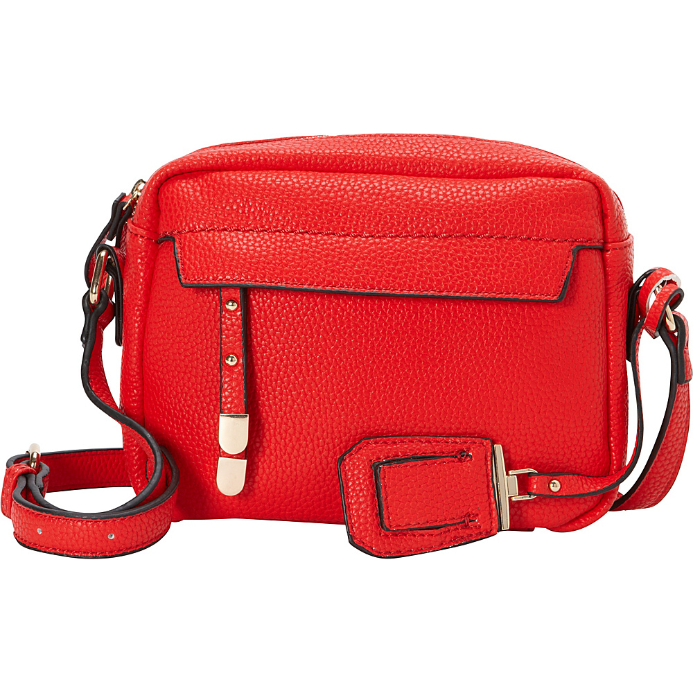 La Diva Kylie Crossbody Red La Diva Manmade Handbags