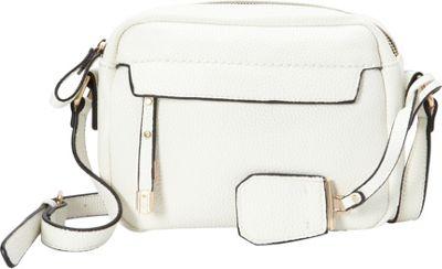 La Diva Kylie Crossbody White - La Diva Manmade Handbags