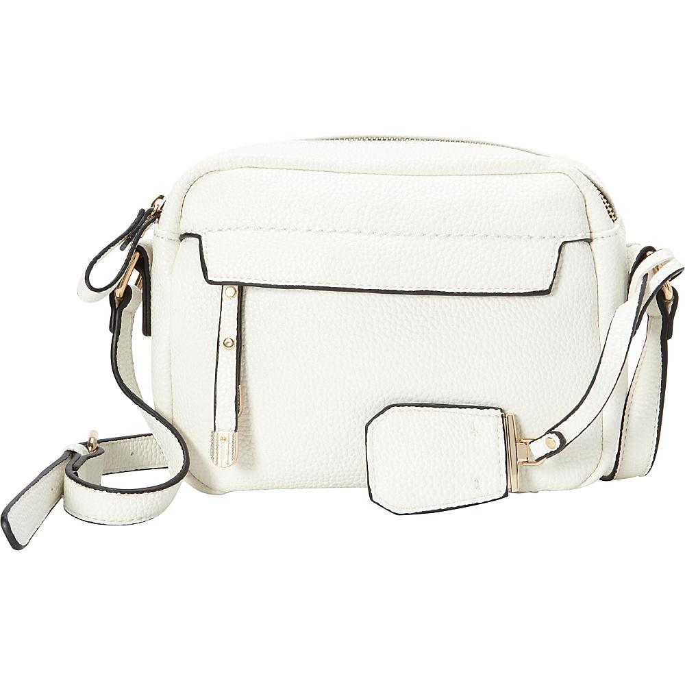 La Diva Kylie Crossbody White La Diva Manmade Handbags