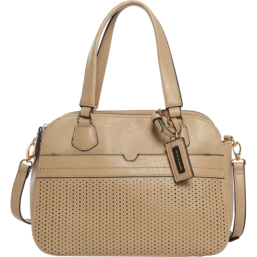 Hush Puppies Lauren Satchel Light Taupe Hush Puppies Manmade Handbags
