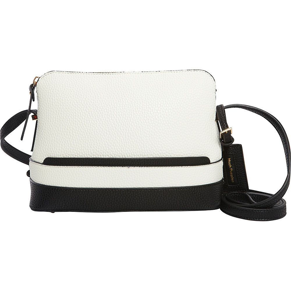 Hush Puppies Frisante Crossbody White Black Hush Puppies Manmade Handbags