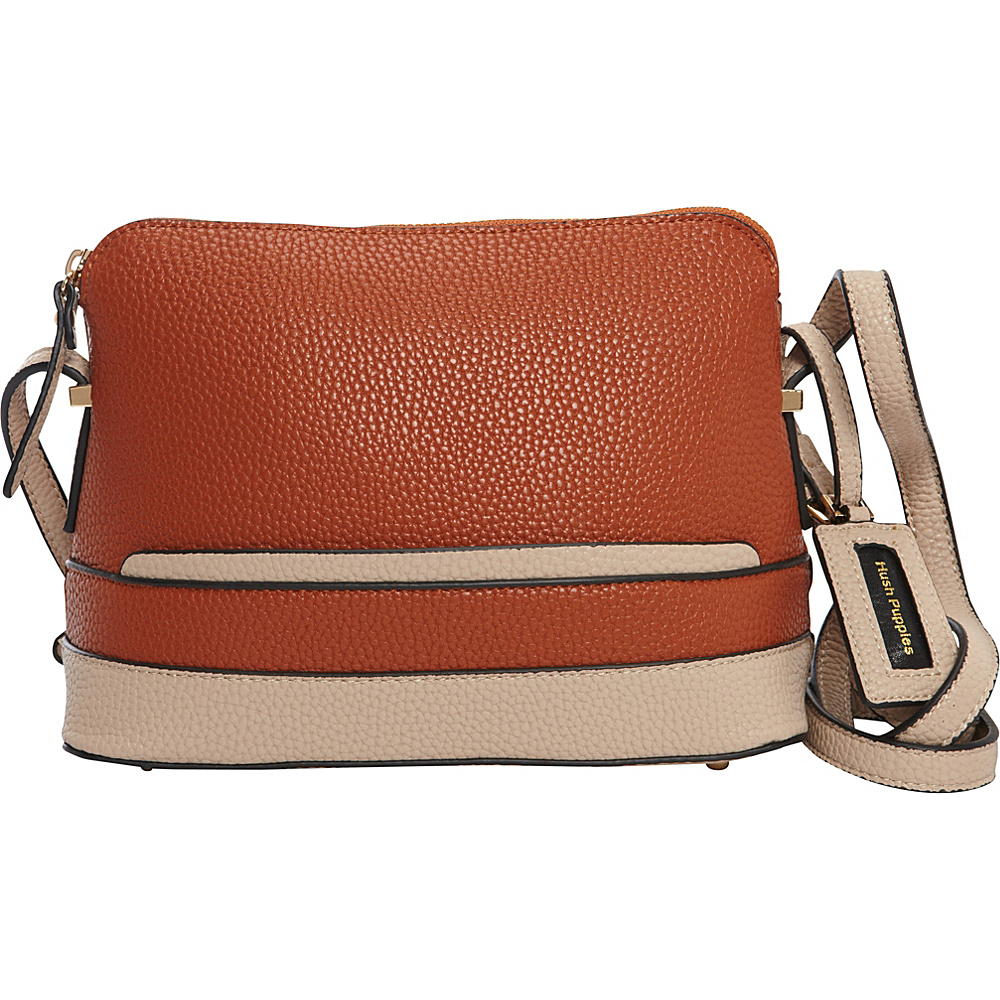 Hush Puppies Frisante Crossbody Tan Beige Hush Puppies Manmade Handbags