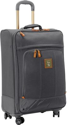 GH Bass & CO Luggage Tamarack 25 inch Upright Spinner Gray - GH Bass & CO Luggage Softside Checked