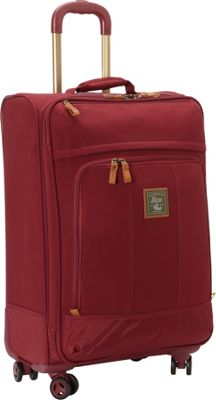 GH Bass & CO Luggage Tamarack 25 inch Upright Spinner Red - GH Bass & CO Luggage Softside Checked