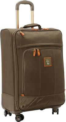 GH Bass & CO Luggage Tamarack 25 inch Upright Spinner Khaki - GH Bass & CO Luggage Softside Checked