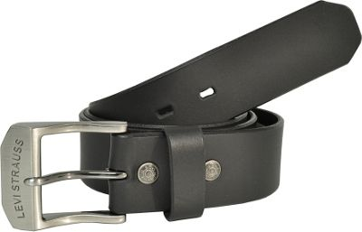 Levi's 38MM Non-Reversible Belt w/ Beveled Edges 44 - Black - Levi's Other Fashion Accessories