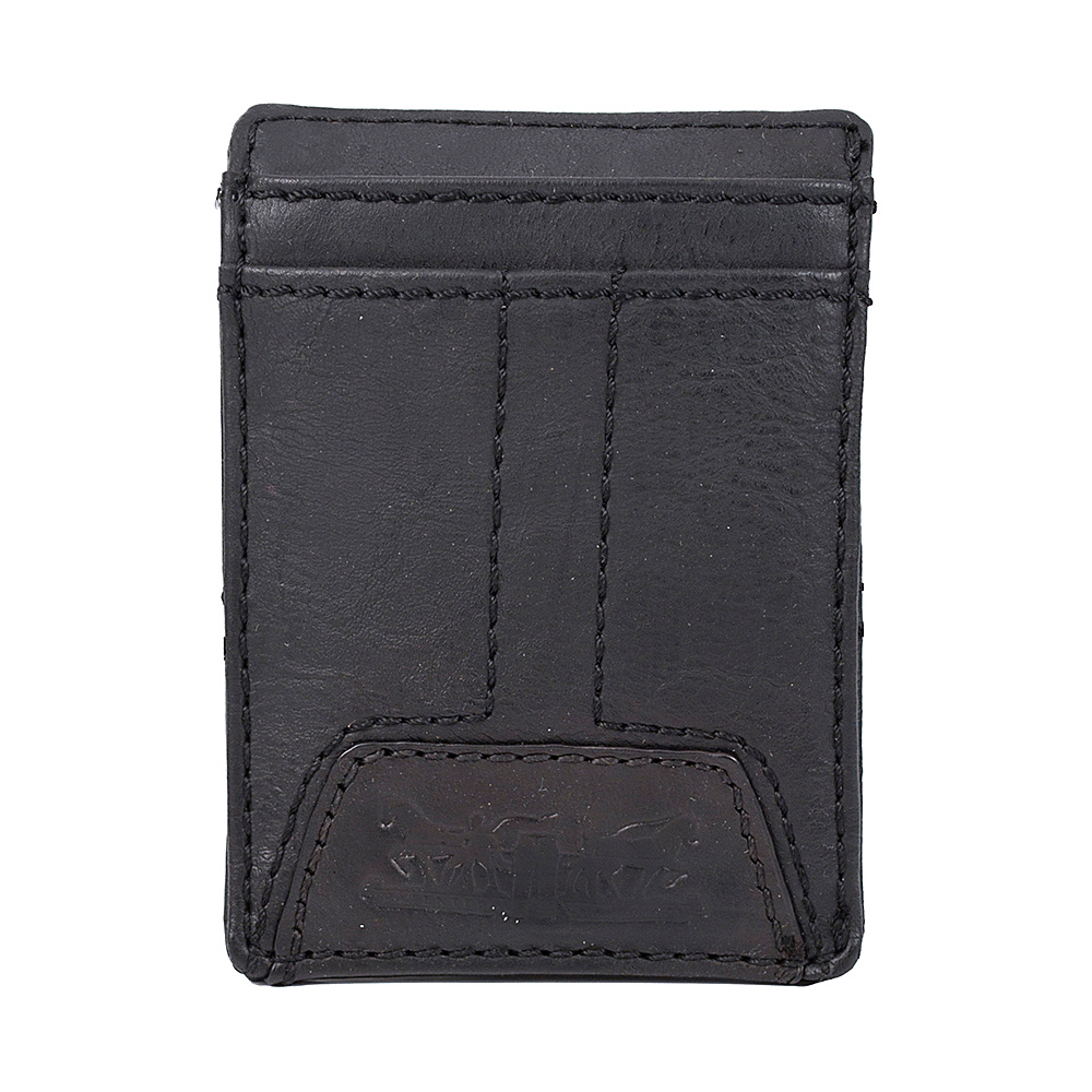 Levi s Wide Magnetic Front Pocket Wallet BLACK Levi s Men s Wallets