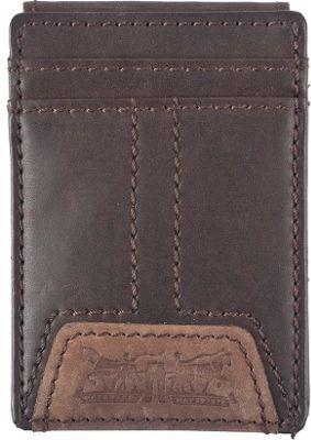 Levi's Wide Magnetic Front Pocket Wallet BROWN - Levi's Men's Wallets