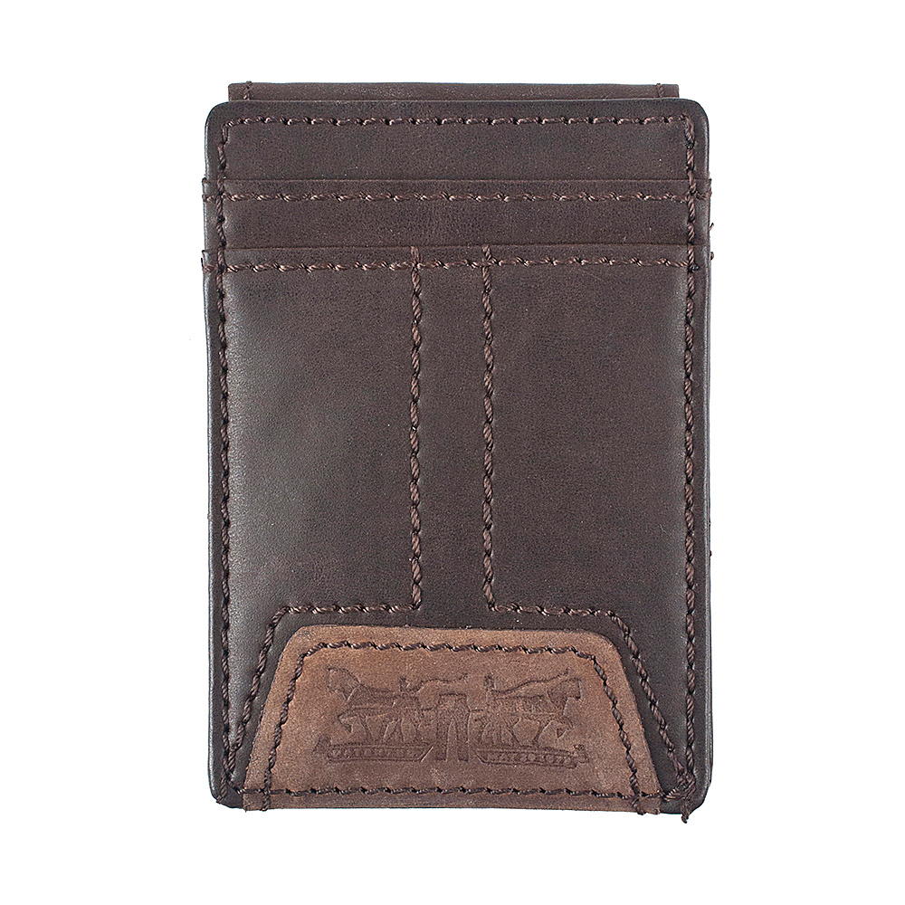 Levi s Wide Magnetic Front Pocket Wallet BROWN Levi s Men s Wallets