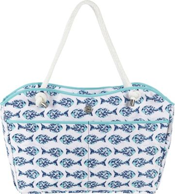 Fivesse Fivesse Beach Tote Minnow Blue - Fivesse Fabric Handbags
