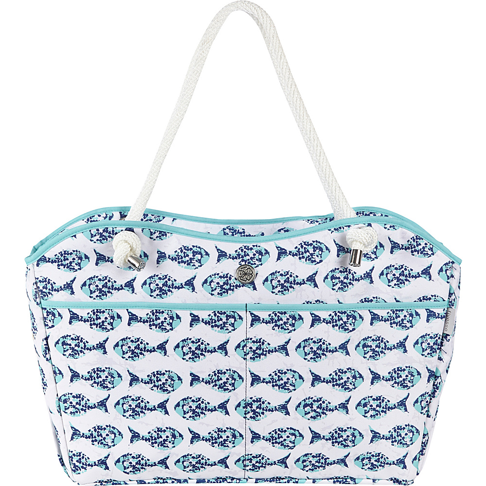 Fivesse Beach Tote Minnow Blue - Fivesse Fabric Handbags