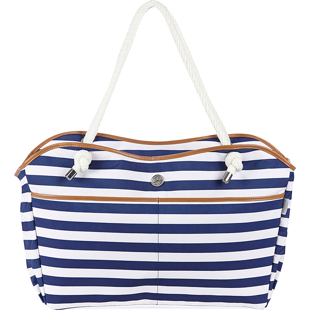 Fivesse Beach Tote Stripe Blue - Fivesse Fabric Handbags