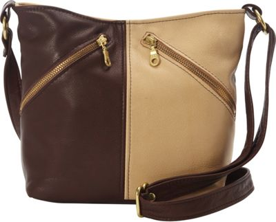 Victoria Leather Sophie Crossbody Bag Chocolate/Palomino - Victoria Leather Leather Handbags