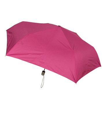 London Fog Umbrellas Tiny Mini Auto Open Auto Close Umbrella Fuchsia - London Fog Umbrellas Umbrellas and Rain Gear