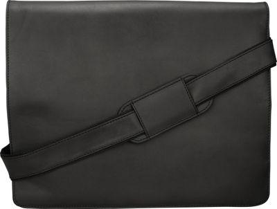 Visconti Leather Distressed Messenger Bag Harvard Collection Oil Black - Visconti Messenger Bags