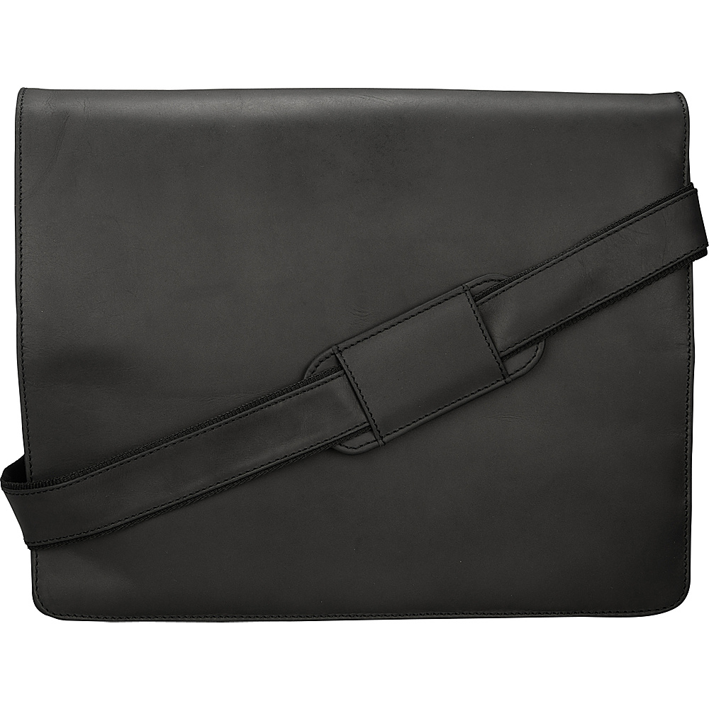 Visconti Leather Distressed Messenger Bag Harvard Collection Oil Black Visconti Messenger Bags