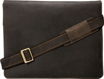 Visconti Leather Distressed Messenger Bag Harvard Collection Oil Brown - Visconti Messenger Bags