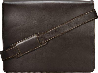 Visconti Leather Distressed Messenger Bag Harvard Collection Mocha - Visconti Messenger Bags