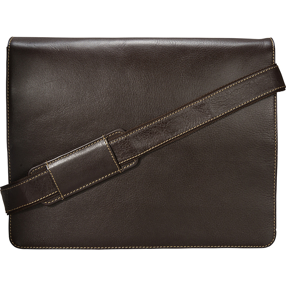 Visconti Leather Distressed Messenger Bag Harvard Collection Mocha Visconti Messenger Bags