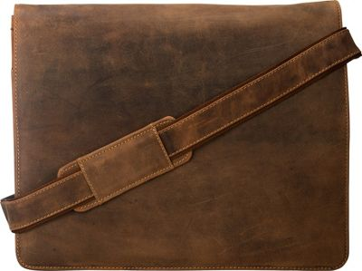 Visconti Leather Distressed Messenger Bag Harvard Collection Oil Tan - Visconti Messenger Bags