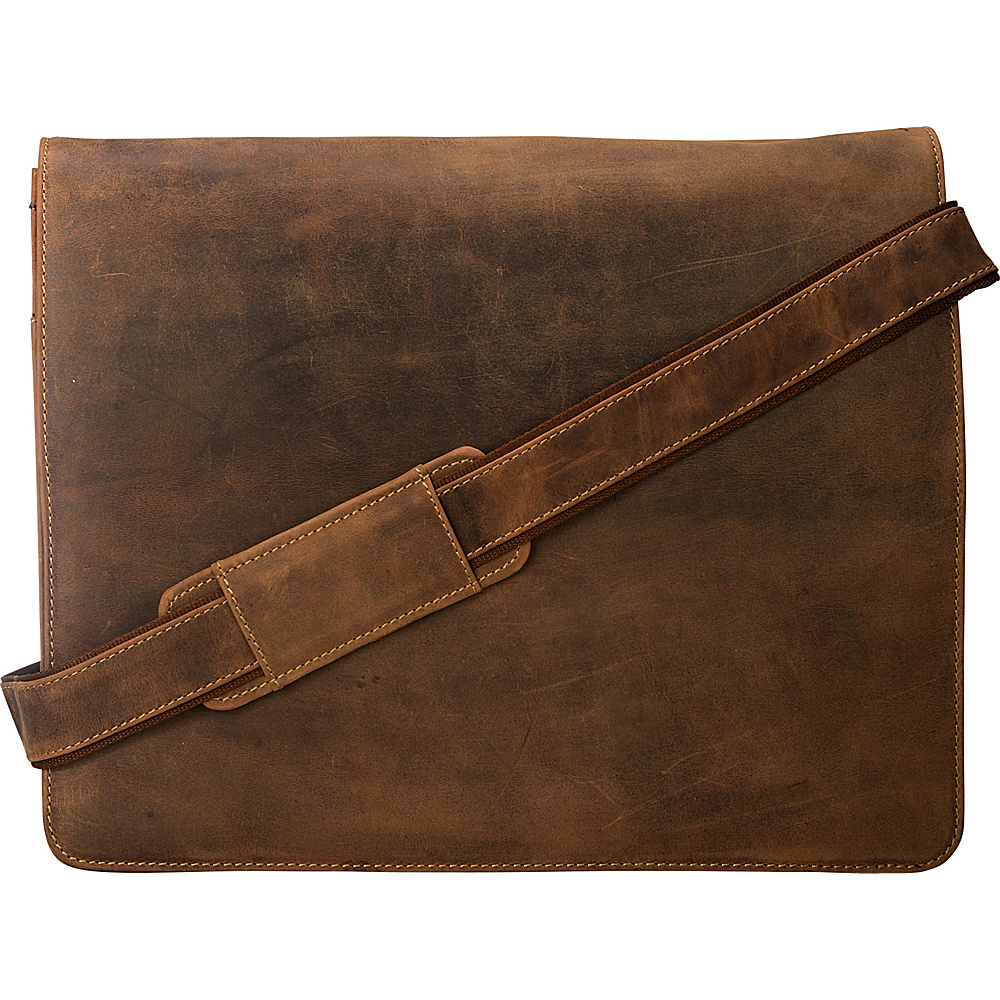 Visconti Leather Distressed Messenger Bag Harvard Collection Oil Tan Visconti Messenger Bags
