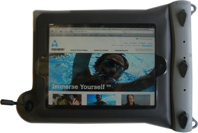 Aquapac Waterproof Case for iPad Cool Gray with Grey Shoulderstrap - Aquapac Electronic Cases