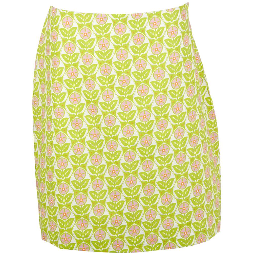 Needham Lane Mod Floral Skirt 6 Lime Needham Lane Women s Apparel