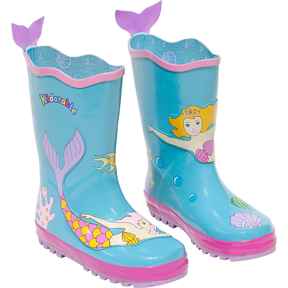 Kidorable Mermaid Rain Boots 13 (US Kids) - M (Regular/Medium) - Aqua - Kidorable Womens Footwear - Apparel & Footwear, Women's Footwear