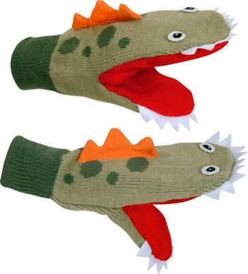 Kidorable Dinosaur Mittens S - Green - Kidorable Hats/Gloves/Scarves