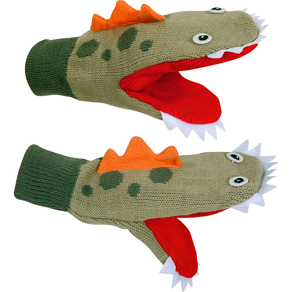 Kidorable Dinosaur Mittens L - Green - Kidorable Hats/Gloves/Scarves - Fashion Accessories, Hats/Gloves/Scarves