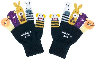 Kidorable Noah Knit Gloves S - Black - Kidorable Hats/Glo...
