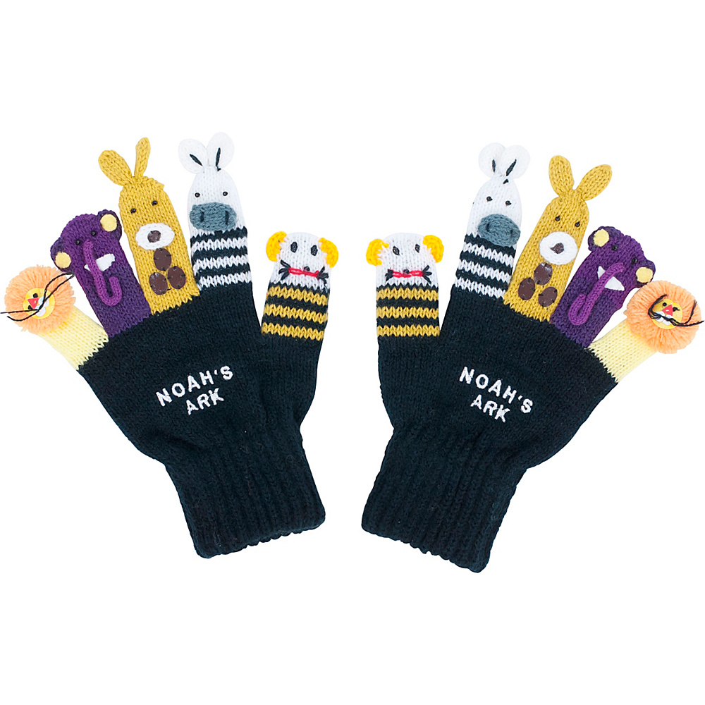 Kidorable Noah Knit Gloves L - Black - Kidorable Hats/Gloves/Scarves - Fashion Accessories, Hats/Gloves/Scarves